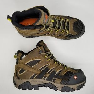 Merrell Moab 2 Mid Safety Toe Work Boots 12 W